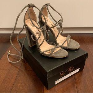 Shoes - Brand new tie up heels